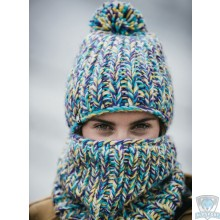 Шапка Buff Knitted & Polar Hat Skyler purple raspberry